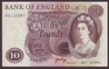 London Coins : A134 : Lot 654 : Ten pounds Page B327 issued 1971 very first run replacement M01 313452 almost UNC