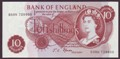 London Coins : A134 : Lot 714 : Ten shillings Fforde B310 issued 1967 very last run D38N 728800 UNC