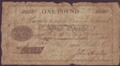 London Coins : A134 : Lot 861 : Stafford Bank £1 dated 1806 No.1151 for Omar Hall & Co., manuscript signature of John ...