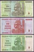 London Coins : A144 : Lot 335 : Zimbabwe Banknotes (178) 200000 Dollars to 10 Trillion Dollars in mixed grades