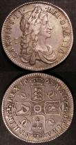 London Coins : A145 : Lot 2084 : Shillings (2) 1663 First Bust ESC 1022 NVF/GF, 1668 Second Bust ESC 1030 Near Fine/Fine with some ol...