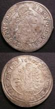 London Coins : A145 : Lot 649 : Hungary 15 Krajczar (2) 1675KB KM#175 on a wavy, rolled flan, 1676KB KM#175 About EF