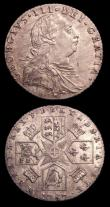 London Coins : A151 : Lot 3004 : Sixpences (2) 1787 No Hearts New ESC 2187, Old ESC 1626 GEF, 1816 New ESC 2191, Old ESC 1630 A/UNC a...