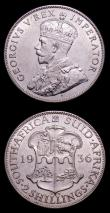 London Coins : A152 : Lot 1301 : South Africa (2) Halfcrown 1936 KM#19.3 NEF, Florin 1936 KM#22 EF both with light contact marks