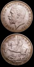 London Coins : A152 : Lot 2611 : Crown 1929 aVF and discoloured, 1935 choice Unc