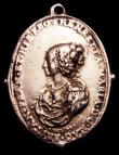London Coins : A152 : Lot 780 : Charles I Royalist badge Eimer 169 (var) Obverse bust of the King, right, draped and wearing a lace ...