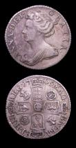 London Coins : A153 : Lot 3361 : Sixpence 1705 Roses and Plumes ESC 1585 Good Fine/Fine, 1708 E* ESC 1593 Fine with an uneven tone on...