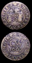 London Coins : A153 : Lot 766 : 17th Century (2) Worcestershire Evesham W.45 undated, Good Fine, City Arms and Castle 1667 W.122 Fin...