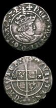 London Coins : A154 : Lot 1627 : Halfgroats (2) Henry VIII Second Coinage, Archbishop Warham, Canterbury Mint, WA beside shield S.234...