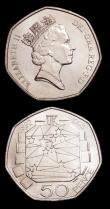 London Coins : A154 : Lot 1937 : Fifty Pence 1992/3 EU Presidency S.4352 (2) UNC lightly toning, with light bagmarks, many of this is...