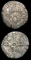 London Coins : A154 : Lot 784 : France Douzaine Henri II 1547-1559 (2) dates not visible due to being off flan, mintmarks H and K VG...