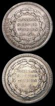 London Coins : A156 : Lot 692 : 19th Century Middlesex (3) One Shilling and Sixpence undated, Davis 4, Fine, Shilling undated Davis ...
