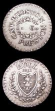 London Coins : A156 : Lot 708 : 19th Century Yorkshire (2) Hull One Shilling and Sixpence 1811 Rudston & Preston, 6 Berries in r...