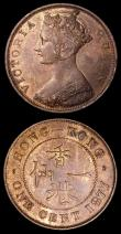 London Coins : A157 : Lot 1438 : Hong Kong One Cent (2) 1863 KM#4.1 NEF with a few small spots, 1877 KM#4.1 GEF with traces of lustre