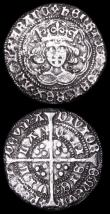 London Coins : A157 : Lot 1898 : Groats Henry VI Annulet issue Calais Mint S.1836 (2) both around Fine one with surface marks