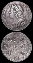 London Coins : A159 : Lot 1061 : Shillings (2) 1739 Roses ESC 1201 Fine or slightly better, 1741 ESC 1202 Good Fine with pleasing ton...