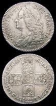 London Coins : A159 : Lot 1099 : Sixpences (3) 1746 LIMA ESC 1618 VF or slightly better, 1757 ESC 1622 NEF toned, 1758 ESC 1623 NEF/G...