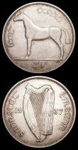 London Coins : A159 : Lot 2052 : Ireland (2) Halfcrown 1937 S.6625 NVF and bold, Florin 1937 S.6266 VF