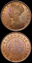 London Coins : A160 : Lot 1126 : Hong Kong 1 Cent (2) 1901H KM#4.3 UNC and nicely toned, the reverse with traces of lustre, 1904H KM#...