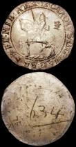 London Coins : A160 : Lot 1849 : Electrotype Halfcrown Charles I 1643 Oxford Mint, as S.2957 Briot style horseman, a British Museum e...