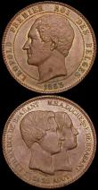 London Coins : A160 : Lot 3102 : Belgium 10 Centimes 1853 Medallic Coinage Marriage of the Duke and Duchess of Brabant X#1.1 (2) the ...
