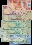 London Coins : A160 : Lot 327 : Fiji (11), 50 Dollars issued 2002, 20 Dollars issued 2007, 10 Dollars issued 1996, 7 Dollars issued ...
