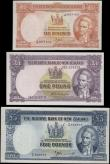 London Coins : A160 : Lot 476 : New Zealand (3) 5 Pounds, 1 Pound & 10 Shillings issued 1956 - 1960 & 1960 - 1967, portrait ...