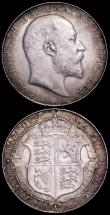 London Coins : A161 : Lot 1762 : Halfcrowns (2) 1909 ESC 754, Bull 3575 NEF the reverse with dark grey tone, 1910 ESC 755, Bull 3576 ...