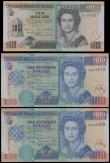 London Coins : A161 : Lot 199 : Belize Central Bank (3), 100 Dollars (2) dated 1st November 2006 series DB 689909 & DB 689912, (...