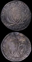 London Coins : A162 : Lot 1626 : Shilling 1655 or 1653 (upper part of last digit not visible) VG or better with old toning, Halfgroat...