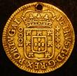 London Coins : A162 : Lot 2946 : Portugal 1000 Reis 1683 KM#146 Titles of Peter II at right, Fine, holed, a Very rare one-year type w...
