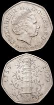 London Coins : A162 : Lot 2990 : Decimal Fifty Pences 2009 Kew Gardens 250th Anniversary (2) S.H19 NEF and EF both with some contact ...