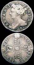 London Coins : A162 : Lot 3049 : Sixpences (2) 1708 E* Local reverse die with J-type 1 in the date, double struck 0 in the date. Plai...