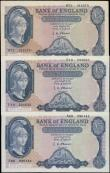 London Coins : A163 : Lot 1349 : O'Brien 5 Pounds Lion & Key (3), a collection of FIRST and LAST series notes, 5 Pounds B277...