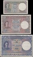 London Coins : A163 : Lot 1413 : Ceylon Government (3), 10 Rupees dated 1st February 1941 series J/3 648322, (Pick33a) small edge tea...