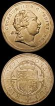 London Coins : A164 : Lot 1215 : Pattern or Trial George III One Florin 1871 (2) in nickel-brass (?) Obverse bearing the right facing...