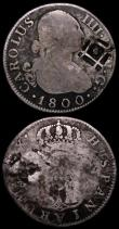 London Coins : A164 : Lot 333 : Costa Rica 2 Reales undated (1849-1857) countermarked on Central American Republic 2 Reales KM#77 Ne...