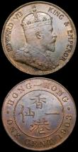 London Coins : A164 : Lot 391 : Hong Kong (3) 50 Cents 1894 KM#9.1 Fine, unevenly toned, 10 Cents 1938 KM#23 GVF, One Cent 1903 KM#1...
