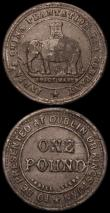 London Coins : A164 : Lot 467 : Netherlands East Indies - Batavian Republic - Singapore Merchants Keping AH1411 (1804) in bronze VF,...