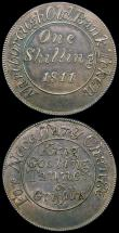 London Coins : A164 : Lot 629 : Shilling 19th Century Wiltshire - Marlborough 1811 King, Gosling, Tanner & Griffiths Davis 1 VF,...