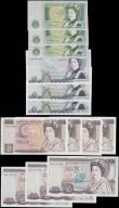 London Coins : A165 : Lot 109 : Bank of England Somerset 1 Pounds to 20 Pounds QE2 pictorial issues (13) each denomination in consec...