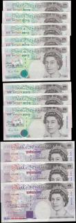 London Coins : A165 : Lot 120 : Bank of England Somerset 5 and 20 Pounds QE2 issues 1990 (12) the Five Pounds in 2 consecutive sets ...