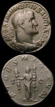 London Coins : A165 : Lot 1995 : Roman (2) Maximinus I (235-238AD) Rome Mint. Obverse: Bust right draped and cuirassed, MAXIMINIVS PI...