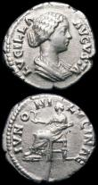London Coins : A165 : Lot 2039 : Roman Denarii (2) Lucius Verus (161-169AD) Obverse: Bare head right, IMP L VERVS AVG, Reverse: Prove...