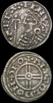 London Coins : A165 : Lot 2431 : Pennies (2) Cnut Short Cross S.1159 Thetford Mint moneyer Aelfwold, Fine, toned, Aethelred II Long C...