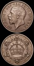 London Coins : A165 : Lot 2552 : Crowns (2) 1931 ESC 371, Bull 3639, Good Fine/NVF, 1929 ESC 369, Bull 3636 VG