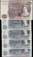 London Coins : A165 : Lot 545 : Bank of England Fforde 1967 issues (5) in mixed grades comprising Five Pounds QE2 & seated child...