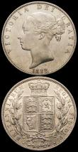 London Coins : A166 : Lot 1840 : Halfcrowns (2) 1882 ESC 710, Bull 2761, Near EF, 1886 ESC 715, Bull 2767 EF with some uneven tone on...