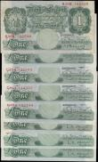 London Coins : A167 : Lot 1341 : One Pounds Green Britannia medallion Peppiatt, Beale & O'Brien issues (9) in various grades...