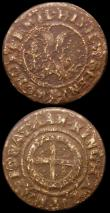 London Coins : A167 : Lot 1703 : 17th Century Buckinghamshire (2) Halfpenny - Wooburn, undated Jonathon Kingham W.154B Waterwheel, VG...